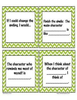 Literary Task Cards