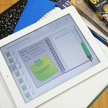 Literary Analysis Task Cards, Digital and Traditional BUNDLE, Distance Learning