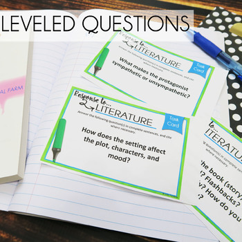 Literary Analysis Task Cards, Response to Literature
