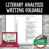 Literary Analysis Task Writing Foldable (Paper and Google