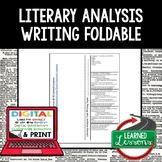 Literary Analysis Task Writing Foldable, Print & Digital D