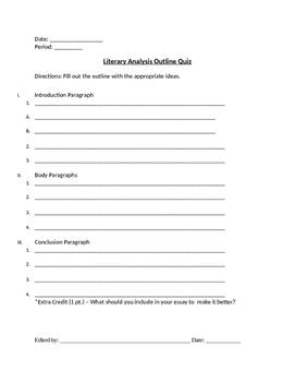 Literary Analysis Unit Packet (PARCC ready)