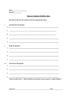 Literary Analysis Unit Packet (PARCC ready)