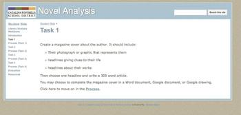 Literary Analysis Webquest for any novel