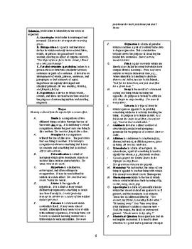 Literary Analysis Word Bank