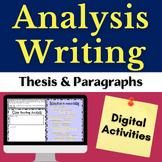 Close Reading Literary Analysis Digital Writing Resource f