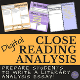Close Reading Literary Analysis Digital Writing Resource f