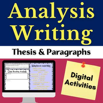 Close Reading Literary Analysis Digital Writing Resource