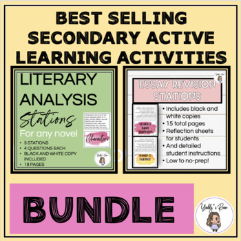 *Literary Analysis and Essay Revision Stations Bundle