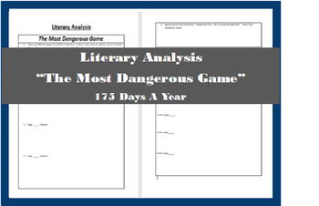 the most dangerous game literary analysis
