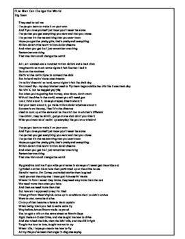 Literary Analysis in Song Lyrics (Middle School)