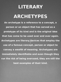 Literary Archetypes Posters