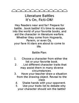 Literary Battles-It's FictiON