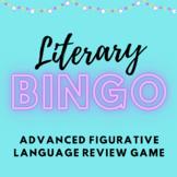 Literary Bingo - Figurative Language Review Game for High School
