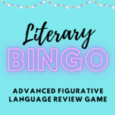 Literary Bingo - Figurative Language Review Game for High School