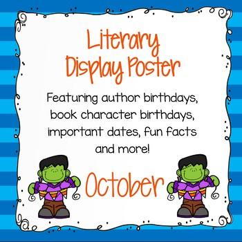 Literary Calendar Poster - October