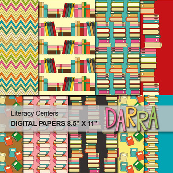 Literary Centers Digital Papers for Cover Page background
