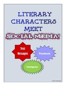 Literary Characters Meet Social Media