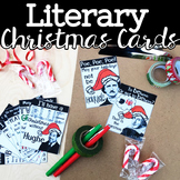 Literary Christmas Cards, English Teacher Holiday Cards, Student Greeting Cards
