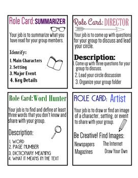 Literary Circles: Beginners Unit!