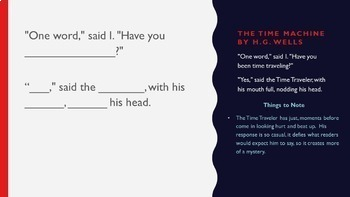 75 Classic Novel Writing Prompts PowerPoint