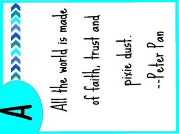 Literary Classroom Alphabet Signs