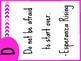 Literary Classroom Alphabet Signs (PINK)
