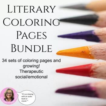 Literary Coloring Pages Growing Bundle