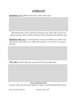 Literary Conflict Center Graphic Organizer