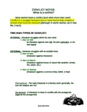 Literary Conflict Notes & Quiz