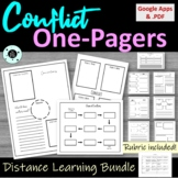 Literary Conflict One Pager Bundle - Graphic Organizer Worksheet