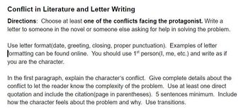 Literary Conflict and Letter Writing