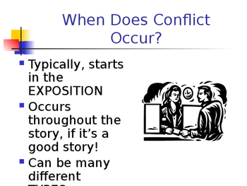 Literary Conflict notes and exit-ticket questions