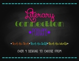 Literary Connection Posters: Text-to-Text, Text-to-Self, Text-to-World
