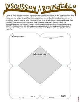 Literary Conversation Starter Packet