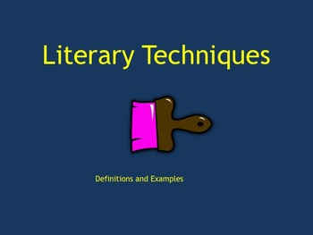 Literary / Creative Writing Techniques