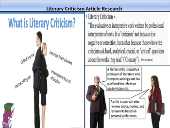 Literary Criticism Article Research Assignment