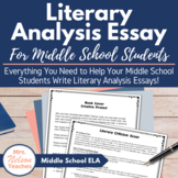 Literary Criticism Essay Project for Middle School Students