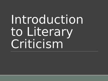 Literary Criticism PPT