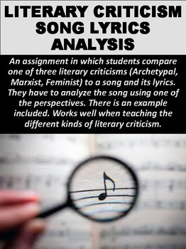 Literary Criticism Song Lyrics Analysis
