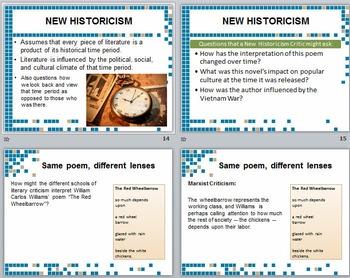 Literary Criticism - seven different lenses
