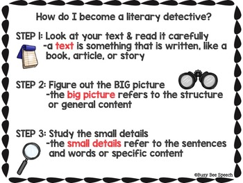 Literary Detective: Text Analysis for Speech Language Therapy & More
