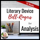 Literary Device Bell-Ringers for Analysis + Close Reading
