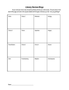 Literary Device Bingo