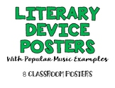Literary Device Classroom Posters (With Examples from Popu