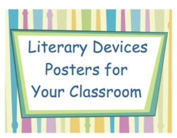 Literary Device Colorful Posters