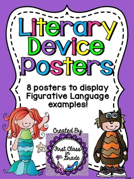 Literary Device & Figurative Language Posters (Bright Colors)