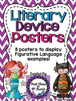 Literary Device & Figurative Language Posters (Chevron)