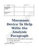 Literary Device Organizer analysis paragraph template
