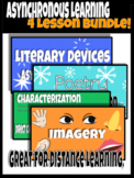 Literary Device, Poetry, Characterization, Imagery Asynchronous Learning Bundle